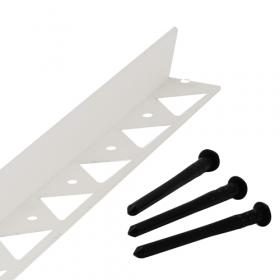 pinnen om randbegrenzing te verankeren